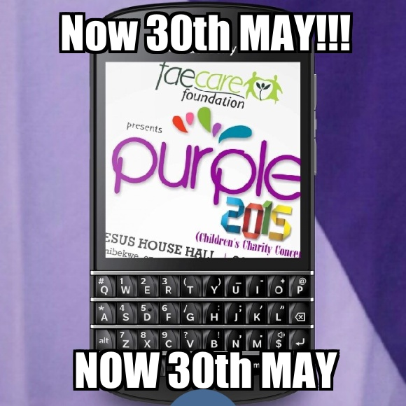 PURPLE NOW 30TH MAY