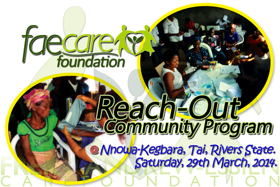 Reach-Out Community Program at Nonwa-Kegbara Poster
